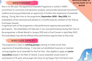 Apprentice Ensemble Programme 2020/21